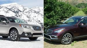 compare lexus nx vs acura rdx faceoff subaru outback vs infiniti qx50 the globe and mail