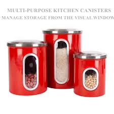 amazon com thrich airtight multi purpose kitchen canisters with