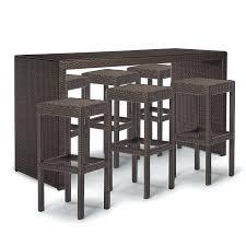 Patio Bar Furniture Set by Wicker Bar Height Patio Furniture Elite Cast Aluminum 6 Piece