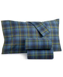 martha stewart collection markham 100 cotton plaid flannel sheet