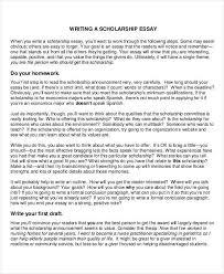 essay exles for scholarships 8 scholarship essay exles sles