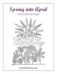 april free coloring pages u2013 easter and spring color me caring