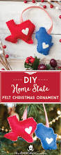 diy home state felt christmas ornament homemade christmas gifts