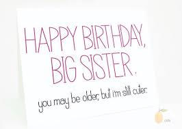 funny birthday cards for your sister