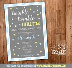 twinkle twinkle baby shower invitations printable twinkle twinkle boy baby shower invitation