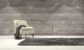 Decor And Floor Minimalist Monochromatic Living Room Interior With Grey Decor