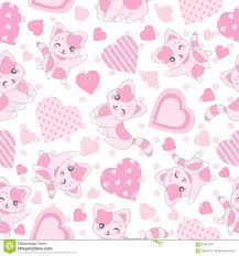 Cute Pink Pictures by Seamless Background Of Valentine S Day Illustration With Cute Pink