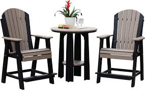 table and chairs with storage luxcraft poly balcony table set swingsets luxcraft poly furniture