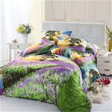 Duvet Cover Lavender Aliexpress Com Buy Sunset Lavender Fields 3d Bedding Set Queen