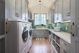 White Cabinets For Laundry Room Laundry Room With Vaulted Ceiling Transitional Laundry Room