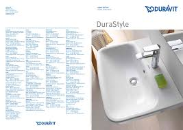 durastyle duravit pdf catalogues documentation brochures