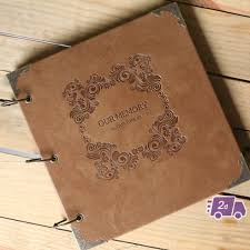 engraved photo albums our memory engraved expandable pu leather scrapbook diy