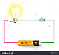 simple electric circuit electrical network switch stock light bulb