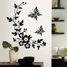 living room wall stickers newest classic butterfly flower home wedding decoration wall