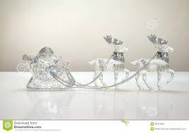 santa claus in reindeer sleigh stock photo image 28113260