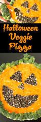 Halloween Pumpkin Vegetable Pizza Recipe Cooking With Janica