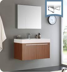 Modern Bathroom Medicine Cabinet Fresca Fvn8090tk Vista 36 Teak Modern Bathroom Vanity With