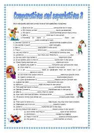 Adjectives That Compare Worksheets 248 Free Esl Comparatives Worksheets