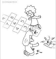 simpsons color coloring pages kids cartoon
