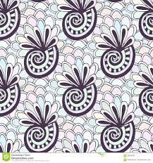 doodling seamless pattern with seashells zentangle coloring page