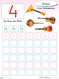 numbers writing practice worksheet 4 download free numbers
