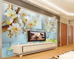 3d Wallpaper For Living Room by Online Get Cheap 3d Flower Wallpaper Decor Aliexpress Com