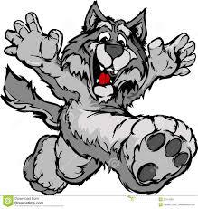 happy running wolf or coyote mascot stock photo image 22714260