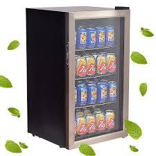 Glass Door Beverage Refrigerator For Home by Costway 120 Can Beverage Refrigerator Beer Wine Soda Drink Cooler