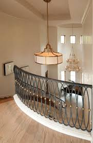 Iron Banister Rails Stair Elegant Staircase Design Ideas With Contemporary Stair
