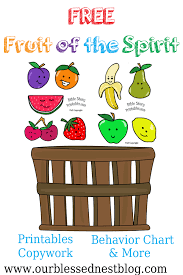 free fruit of the spirit printables our blessed nest blog