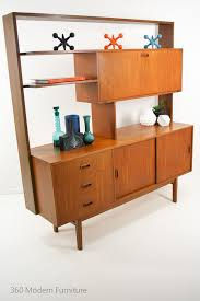 mid century teak sideboard room divider buffet cabinet drop down
