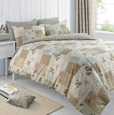 patchwork duvet cover bedding quilt cover set w pillowcase single