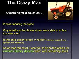 grade 7 novel study the crazy man by pamela porter ppt video