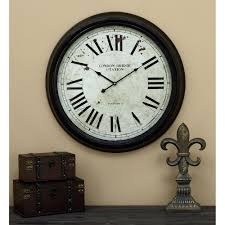 24 in metal wall clock 52102 the home depot
