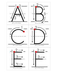 alphabet letter formation cards with