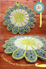 Free Pattern For Crochet Flower - colorful crochet flower pot holder with free pattern crochet