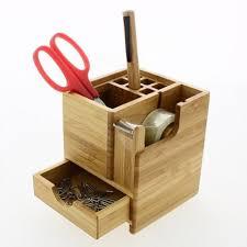 bureau en bambou organiseur de bureau en bambou boxwey