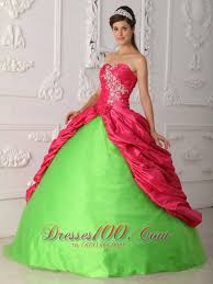 pink and spring green sweet 16 dress discount new style