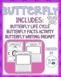 butterfly writing activities cycle butterfly facts writing