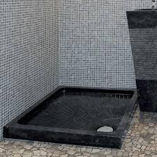 piatto doccia pietra piatto doccia in pietra naturale nera 90x90 modello bangkok