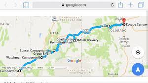 Maps Google Com Las Vegas Escape Campervan Road Trip Las Vegas To Denver Via Utah National
