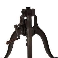 adjustable table base pedestal 33 cast iron crank adjustable pedestal wood table christordecor