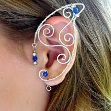ear wraps pair of silver wire ear cuffs with from merlin s apprentice