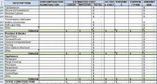 detailed construction expense estimate with excel template free
