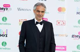 Opera Singer Blind Bocelli Andrea Bocelli Enjoys Beach Day With His Much Younger Clad