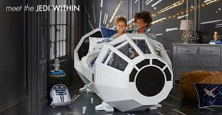 Star Wars Bedrooms by Pottery Barn Star Wars Bed Is Built For Rich Young Jedi