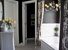 chic black and white bathroom decor coolest home design ideas