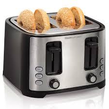 Toaster Ovens With Toaster Slots Hamilton Beach Extra Wide Slot 4 Slice Toaster 24633