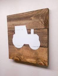 Wooden Nursery Decor Small Tractor Wood Pallet Sign Rustic Farm Wooden Nursery