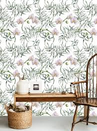 self adhesive wallpaper removable wallpaper tropical wall décor